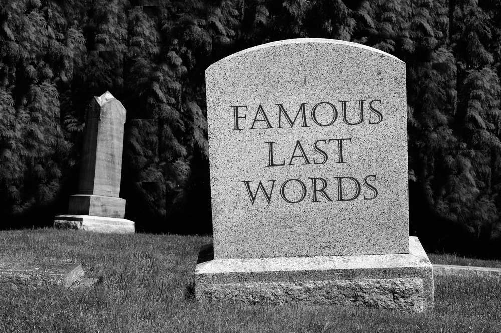 The Witching Hour September 2020: Famous Last Words